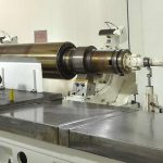 High accuracy calender roll by hot grinding