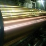 Copper plating roll for curving