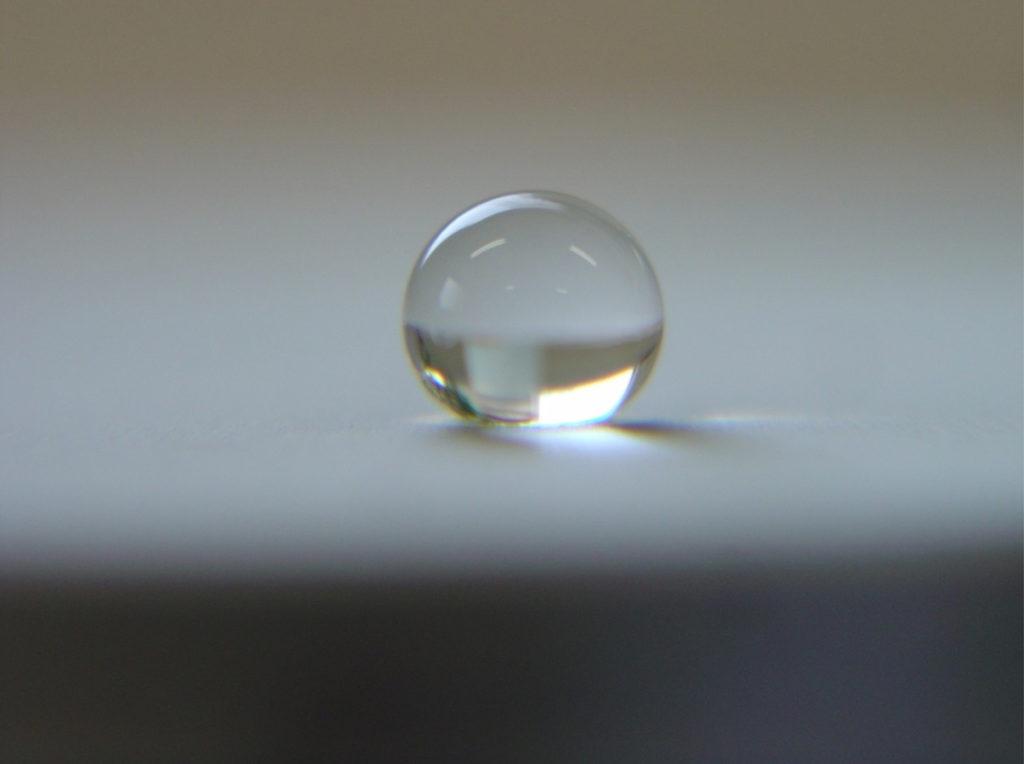 摩耗前(めっき後)の撥水程度(150°)