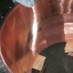 真空容器の筒内面への銅めっき