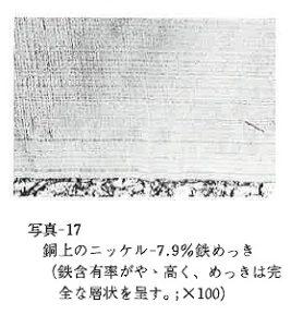 銅上のニッケル-7.9%鉄合金めっき