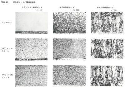 電気銅めっきの顕微鏡組織
