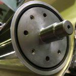 CFRPロール 低たわみ二重管めっきロール